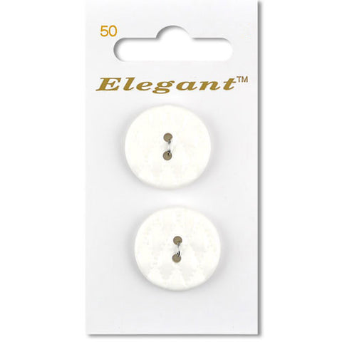 Sirdar Elegant Carded Buttons - Design 50 - 22mm Decorative Quilted White