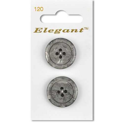 Sirdar Elegant Carded Buttons - Design 120 - 22mm Silver Crackle Effect