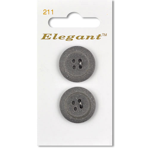 Sirdar Elegant Carded Buttons - Design 211 - 22mm Grey Stone Effect