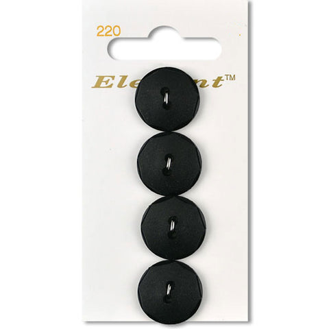 Sirdar Elegant Carded Buttons - Design 220 - 19mm Black Faceted Edge