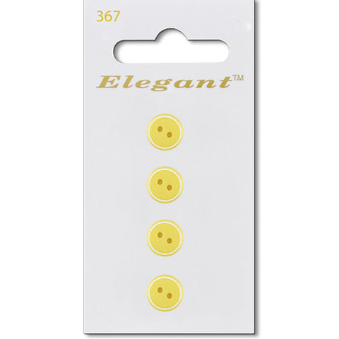 Sirdar Elegant Carded Buttons - Design 367 - 9mm Pastel Yellow