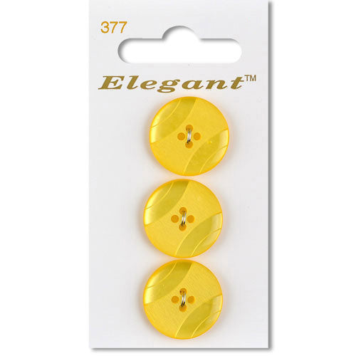 Sirdar Elegant Carded Buttons - Design 377 - 19mm Decorative Textured Yellow