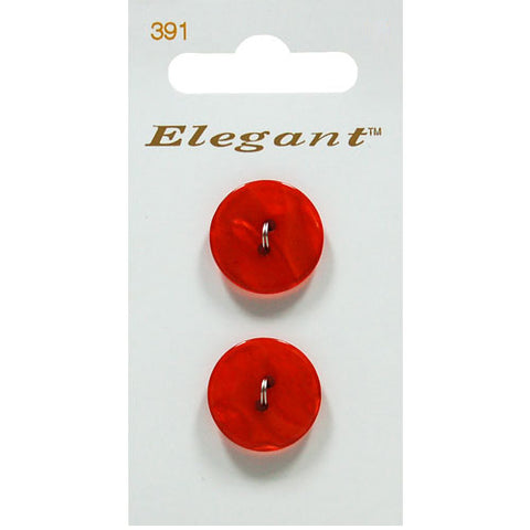 Sirdar Elegant Carded Buttons - Design 391 - 19mm Shell Effect Red