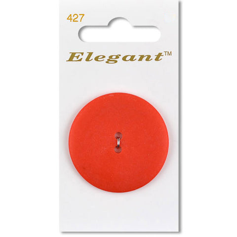 Sirdar Elegant Carded Buttons - Design 427 - 38mm Matte Red