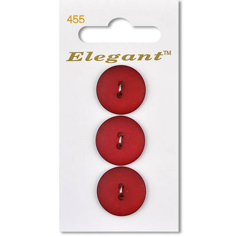Sirdar Elegant Carded Buttons - Design 455 - 19mm Red Seaglass Effect
