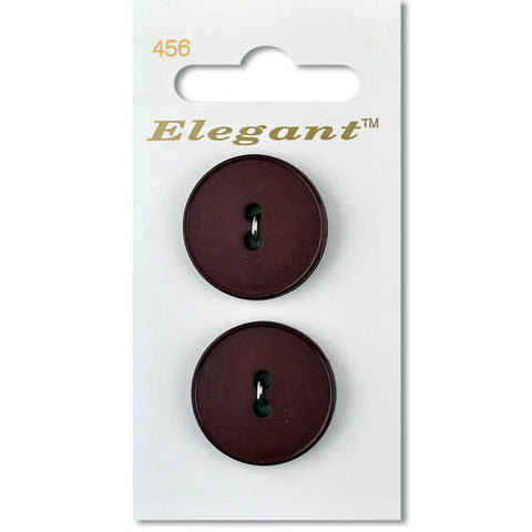Sirdar Elegant Carded Buttons - Design 456 - 25mm Matte Burgundy