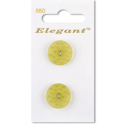 Sirdar Elegant Carded Buttons - Design 550 - 19mm Textured Transparent Yellow