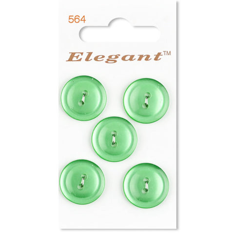 Sirdar Elegant Carded Buttons - Design 564 - 19mm Pearlised Green
