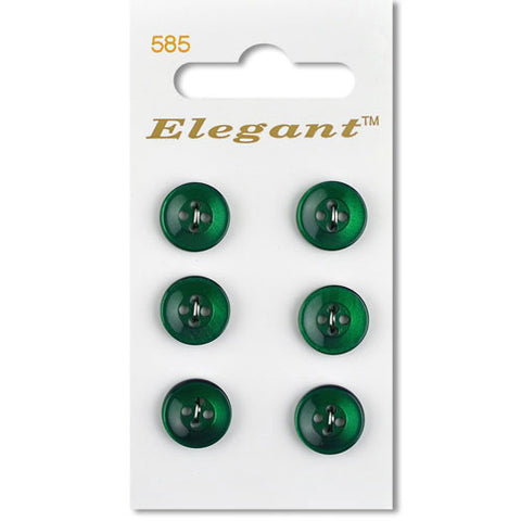 Sirdar Elegant Carded Buttons - Design 585 - 12mm Pearlised Dark Green