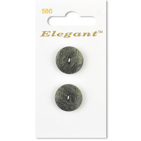 Sirdar Elegant Carded Buttons - Design 586 - 19mm Natural Textured