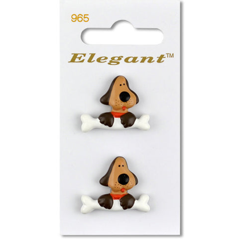 Sirdar Elegant Carded Buttons - Design 965 - 25mm Novelty Dog