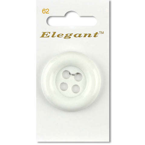 Sirdar Elegant Carded Buttons - Design 62 - 38mm Classic White