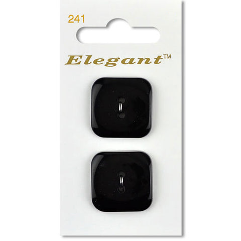 Sirdar Elegant Carded Buttons - Design 241 - 28mm Black Square