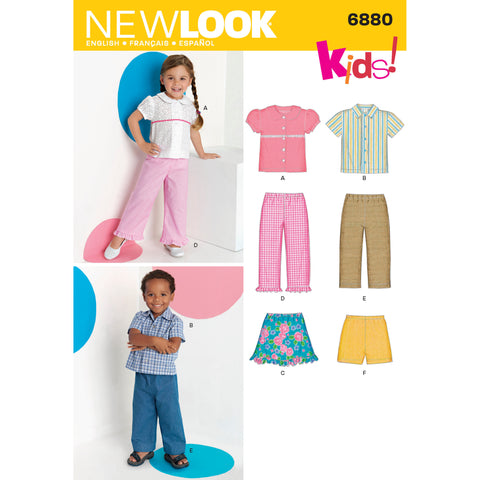 New Look Sewing Pattern 6880 - Toddler's Separates
