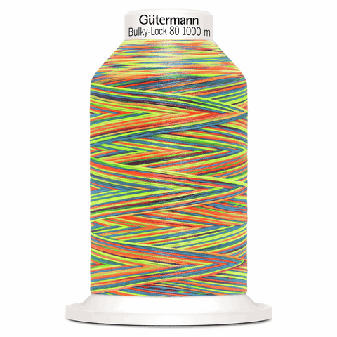 Gutermann Bulky-Lock 80 Overlocking Thread 1000m - Multicolour Rainbow