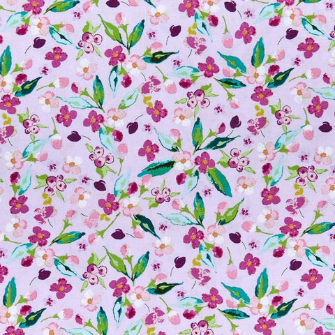 Riley Blake Hampton Garden - Floral Lavender - 100% Cotton Fabric