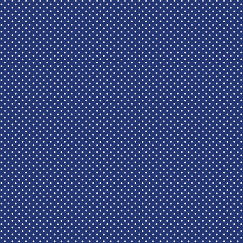 Makower Spot on - Navy - 100% Cotton Fabric