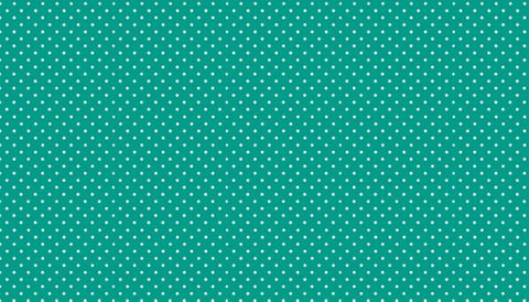 Makower Spot On - Turquoise - 100% Cotton Fabric