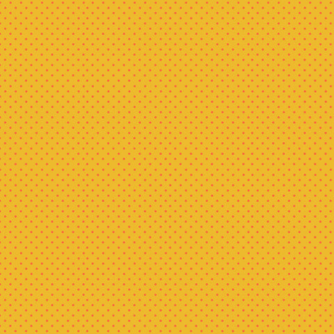 Makower Spot - Orange on Yellow - 100% Cotton Fabric