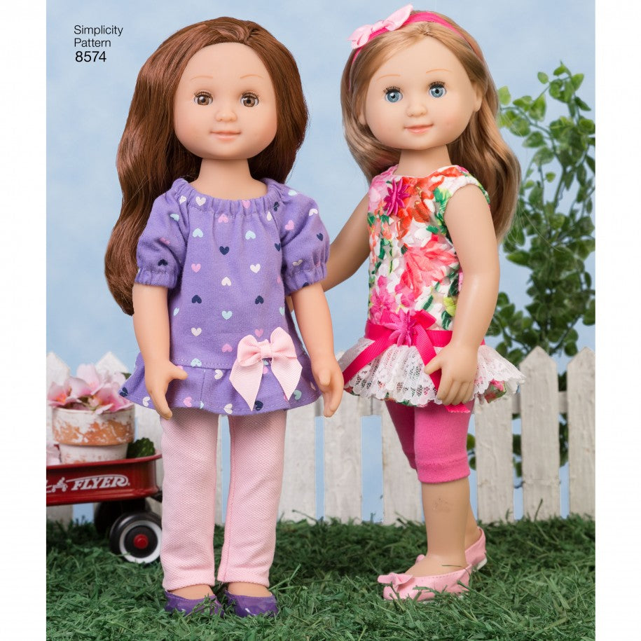 "Simplicity Sewing Pattern 8574 - 14"" Doll Clothes"