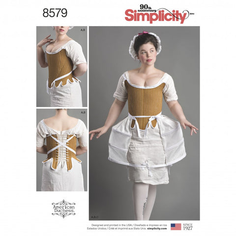 Simplicity Sewing Pattern 8579 - Women's 18th Century Costume