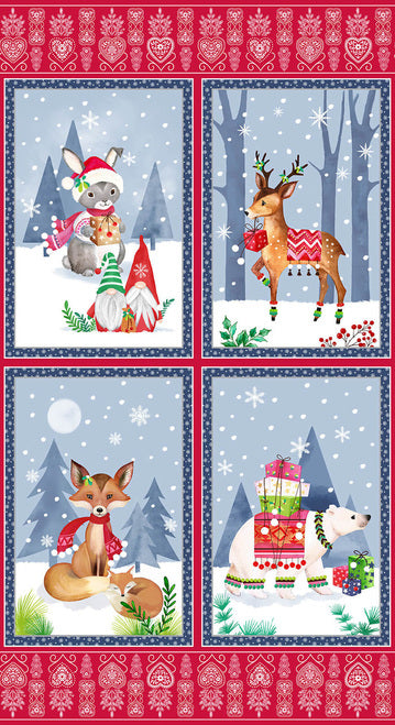 Blank Quilting Nordic Forest Christmas Fabric Panel