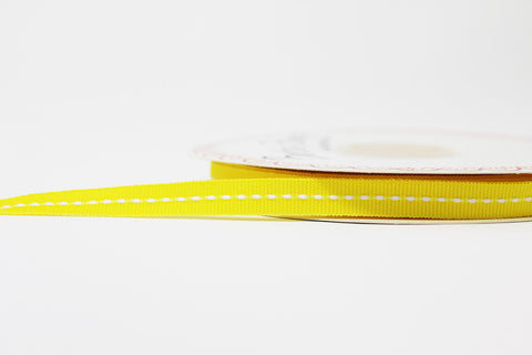 9mm Yellow Centre Stitch Ribbon