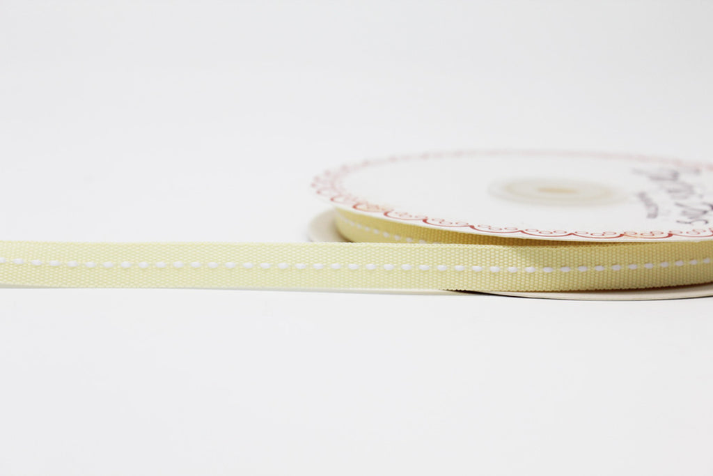 9mm Centre Stitch Ribbon - Cream