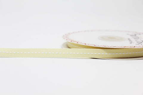 9mm Cream Centre Stitch Ribbon