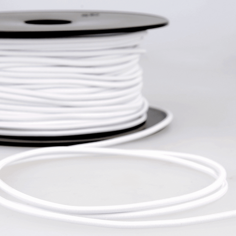 2.5mm Round Elastic - White
