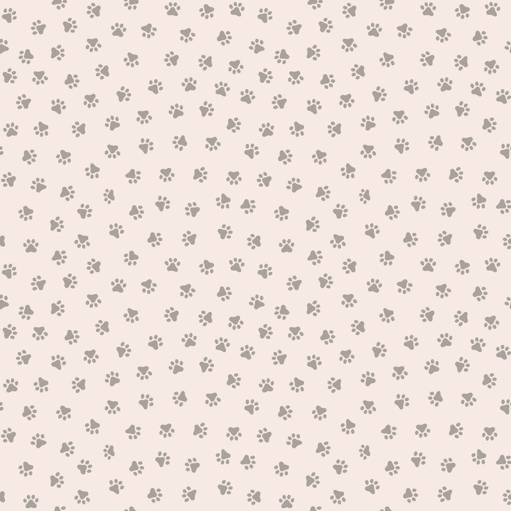 Lewis & Irene Purrfect Petals - Paws Warm Cream - 100% Cotton Fabric