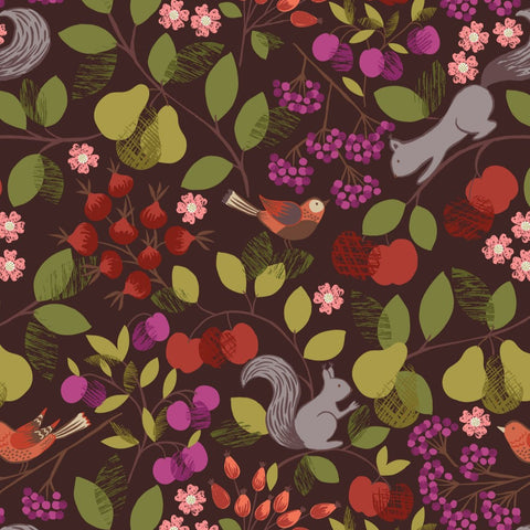 Lewis & Irene The Orchard - Orchard Dark  - 100% Cotton Fabric
