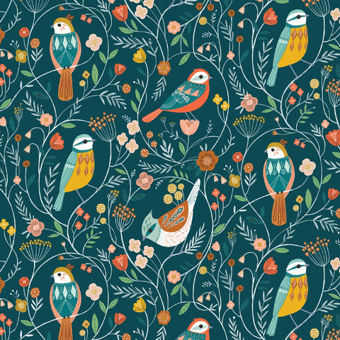 Dashwood Aviary - Birds - 100% Cotton Fabric