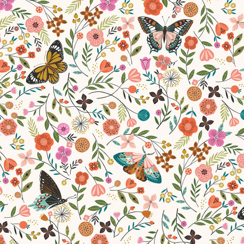 Dashwood Aviary - Butterflies - 100% Cotton Fabric
