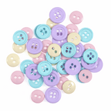 Trimits Assorted Pastel Buttons Pack