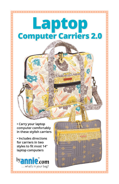By Annie Bag Sewing Pattern - Laptop Computer Carriers