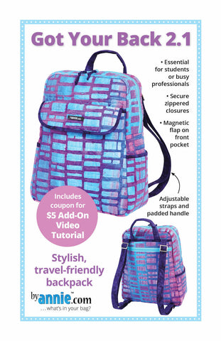 By Annie Bag Sewing Pattern - Got Your Back 2.1