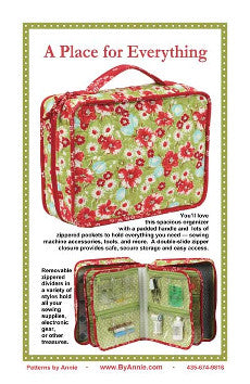 By Annie Bag Sewing Pattern - A Place for Everything Organiser