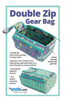 By Annie Bag Sewing Pattern - Double Zip Gear Bag