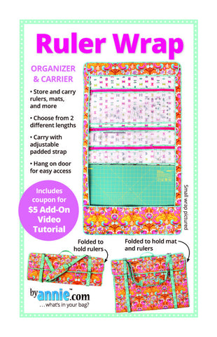 By Annie Bag Sewing Pattern - Ruler Wrap