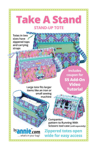 By Annie Bag Sewing Pattern - Take a Stand Tote