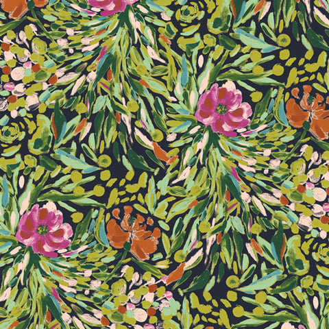 Art Gallery Bloomsbury By Bari J - Writers Garden Stem - Jersey Knit Fabric