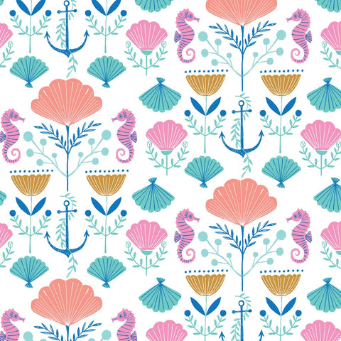 Dashwood Into the Blue - Underwater Garden - 100% Cotton Fabric