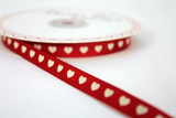 9mm Red Heart Grosgrain Ribbon