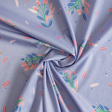 Busy Blossom Lilac - Lisa Comfort Cotton Lawn Fabric