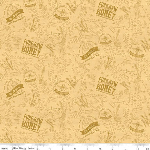 Riley Blake Bee's Life - Tonal Honey - 100% Cotton Fabric