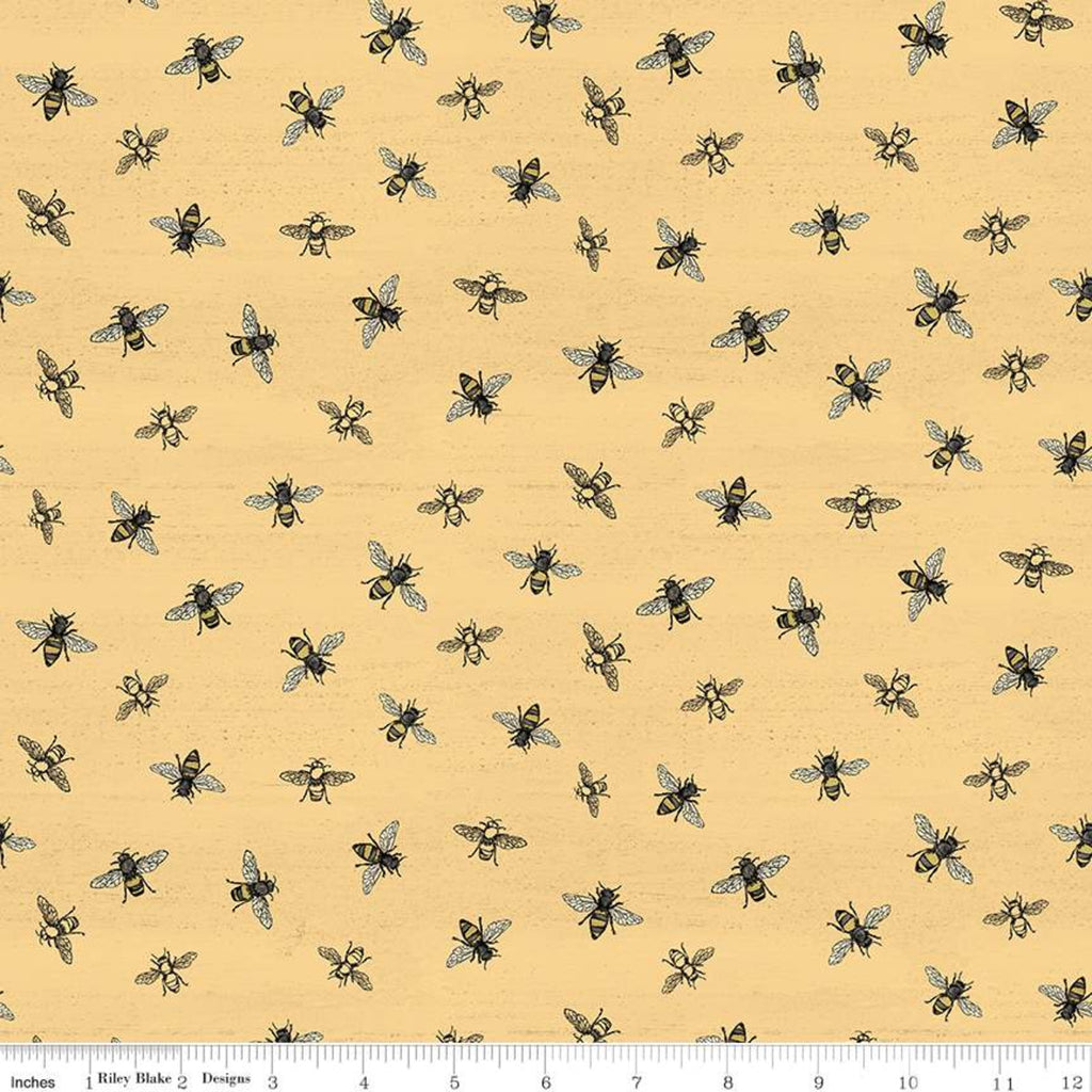 Riley Blake Bee's Life - Bees Honey - 100% Cotton Fabric