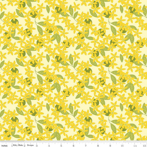 Riley Blake Grove - Blossoms Lemonade - 100% Cotton Fabric