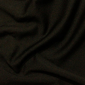 Black Plain Ponte Roma Fabric