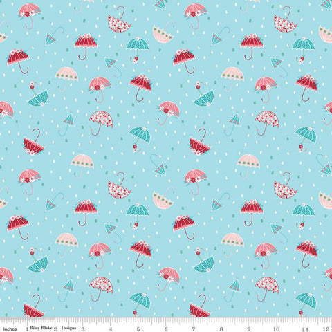 Riley Blake Singing in the Rain - Umbrellas Waterfall - 100% Cotton Fabric